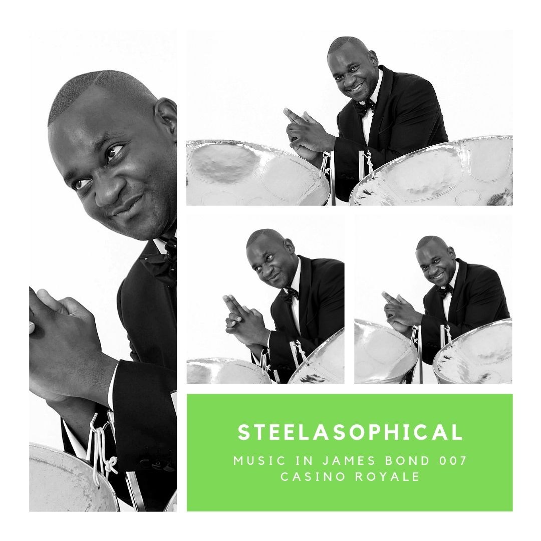 Gary Trotman Steelasophical James Bond 007 Casino Royale 1 Steel Band 087