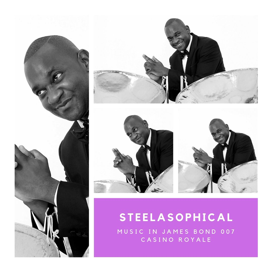 Gary Trotman Steelasophical James Bond 007 Casino Royale 1 Steel Band 0496n