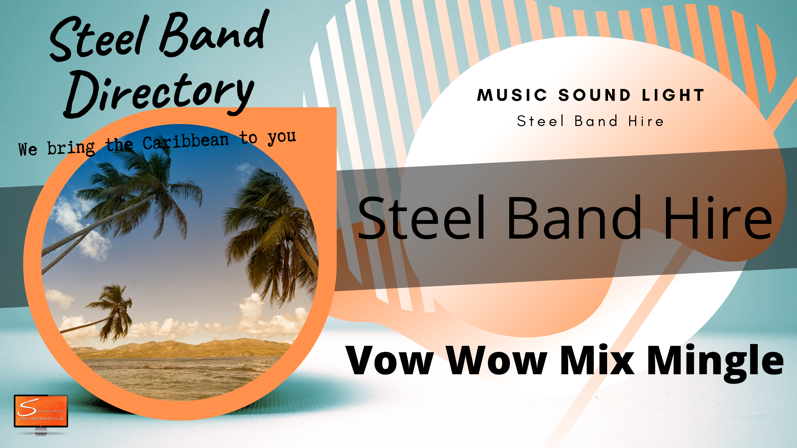 Caribbean Island steel bands for hire uk steelband for hire