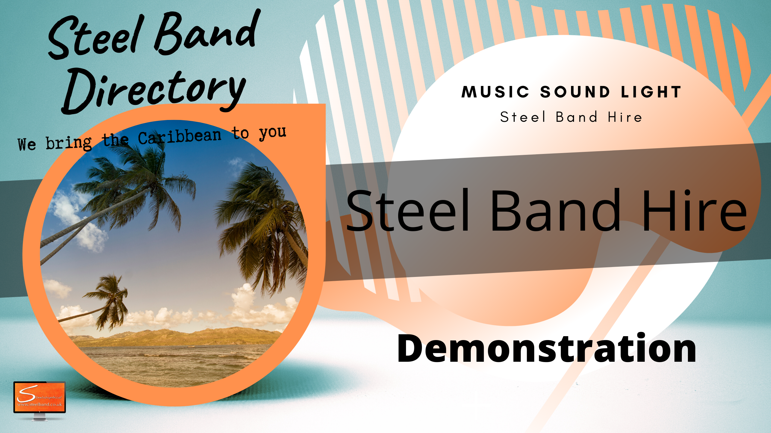 Caribbean Island steel bands for hire uk 9088h