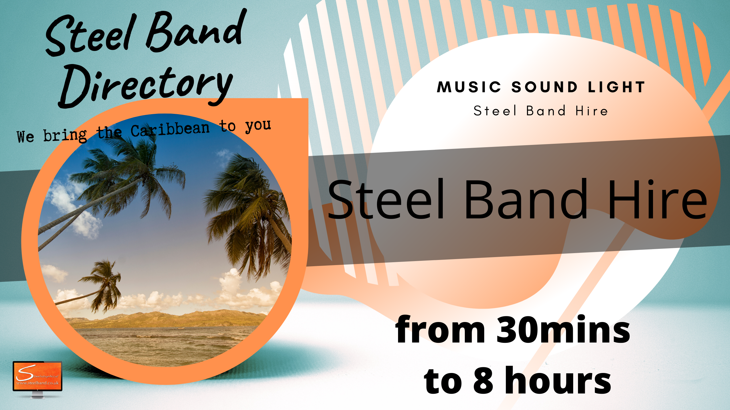 Caribbean Island steel bands for hire uk 9088