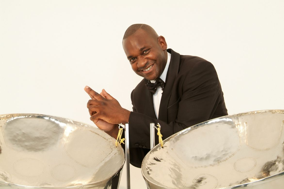 Caribbean Island steel bands Gary Trotman Steelasophical Steel BAnd Stee;pan Steeldrums